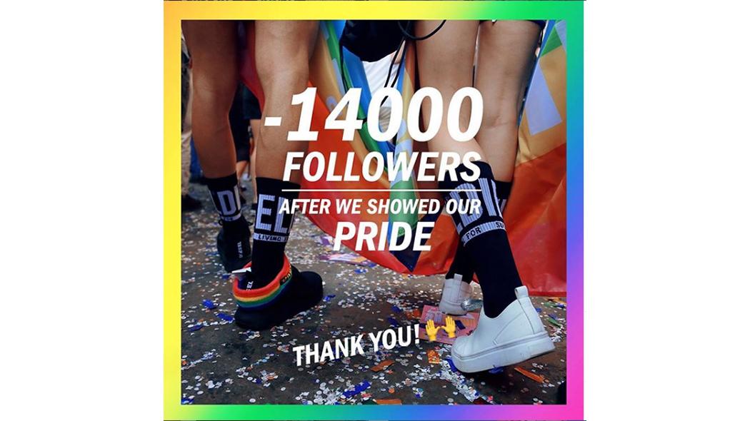 Perché Diesel festeggia la perdita di 14mila follower su Instagram