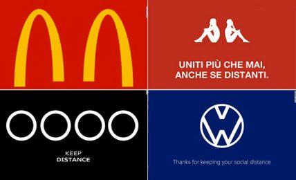 """Da McDonald's a Kappa, le aziende """"distanziano"""" i loghi"""